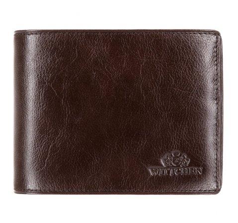 Мужской кожаный кошелек с откидной панелью, коричневый, 21-1-046-1, Фотография 1