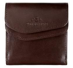 Мужской кожаный кошелек раскладывающийся, коричневый, 21-1-088-4, Фотография 1