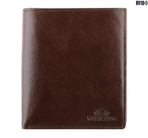 Большой кожаный мужской кошелек, коричневый, 21-1-139-10L, Фотография 1