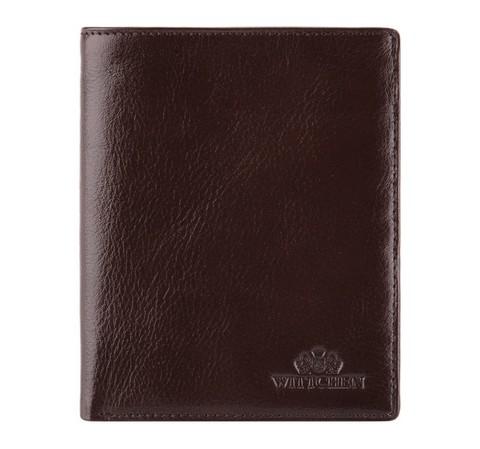 Мужской кожаный кошелек, коричневый, 21-1-221-1, Фотография 1