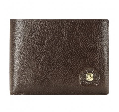 Мужской классический кожаный кошелек, коричневый, 22-1-039-1, Фотография 1