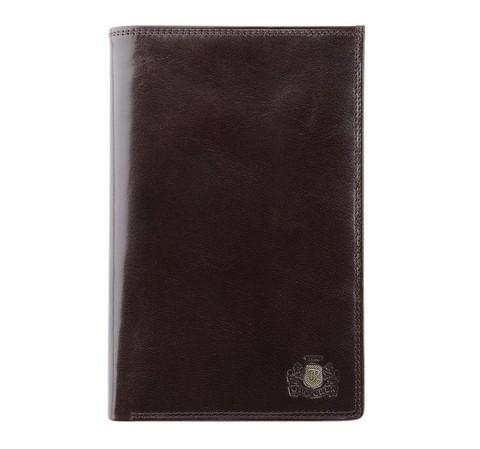 Мужской кошелек из гладкой натуральной кожи, коричневый, 39-1-030-3, Фотография 1