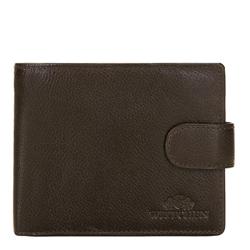 Мужской раскладной кожаный кошелек, коричневый, 21-1-120-40L, Фотография 1