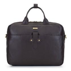 Кожаная сумка для ноутбука с клапаном, коричневый, 92-3U-304-4, Фотография 1