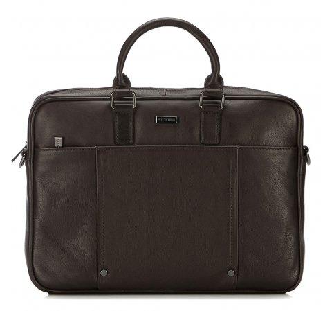 Кожаная сумка для ноутбука с заклепками, коричневый, 91-3U-305-4, Фотография 1