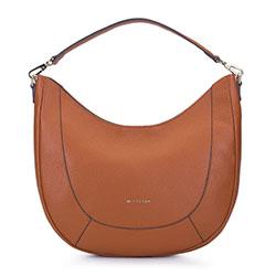 Кожаная сумка - полумесяц, коричневый, 93-4E-608-5, Фотография 1