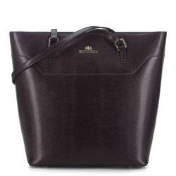 Кожаная сумка-шоппер, коричневый, 91-4-700-4, Фотография 1