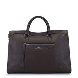 Кожаная сумка в стиле ретро, коричневый, 93-4E-618-4, Фотография 1
