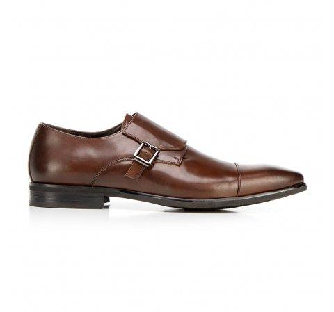 Кожаные мужские туфли, коричневый, 92-M-514-4-44, Фотография 1