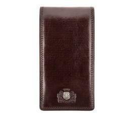 Кожаная кредитница с большим количеством отделений, коричневый, 39-2-170-3, Фотография 1