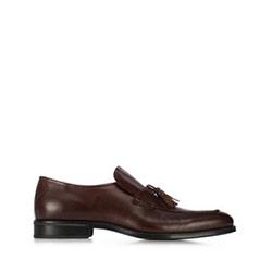 Мужские кожаные мокасины, коричневый, 91-M-909-4-44, Фотография 1