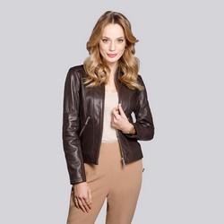 Мотоциклетная стеганая кожаная куртка, коричневый, 92-09-601-5-XL, Фотография 1