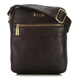 Мужская кожаная сумка через плечо с карманом, коричневый, 91-4U-315-4, Фотография 1