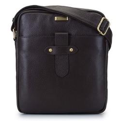 Мужская кожаная сумка через плечо с ремешком, коричневый, 92-4U-306-4, Фотография 1