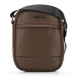 Мужская сумка через плечо из экокожи, коричневый, 91-4P-601-4, Фотография 1