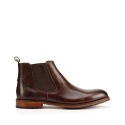 Мужские кожаные ботинки черные, коричневый, 93-M-521-4-42, Фотография 1