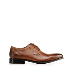 Мужские кожаные туфли, коричневый, 92-M-505-5-40, Фотография 1