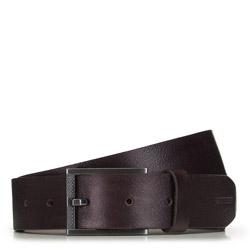 Мужской классический кожаный ремень, коричневый, 91-8M-324-4-90, Фотография 1