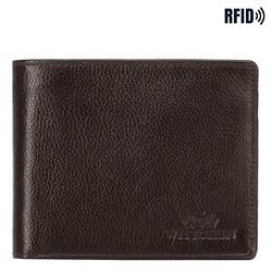Мужской кожаный кошелек на двух молниях, коричневый, 21-1-040-40L, Фотография 1