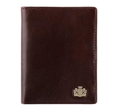 Кожаная обложка для документов с прозрачными карманами, коричневый, 10-2-163-4, Фотография 1