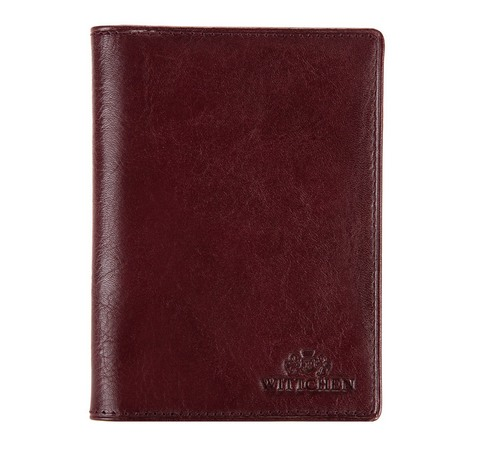 Кожаная обложка для документов с карманом, коричневый, 21-2-174-4, Фотография 1
