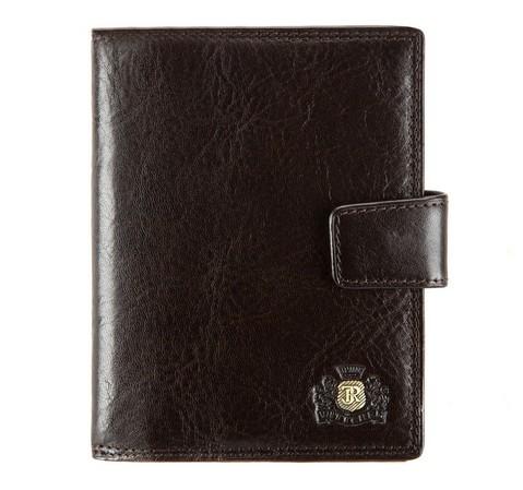 Кожаная черная обложка для документов, коричневый, 39-2-176-1, Фотография 1
