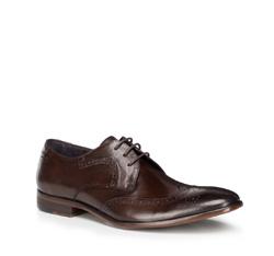Мужские кожаные броги, коричневый, 89-M-505-4-42, Фотография 1