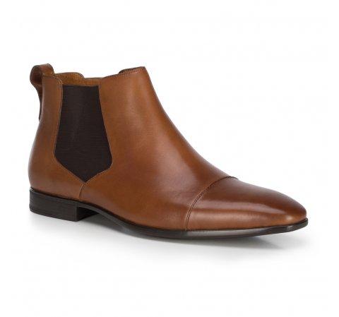 Мужские кожаные ботинки на молнии, коричневый, 89-M-512-5-45, Фотография 1