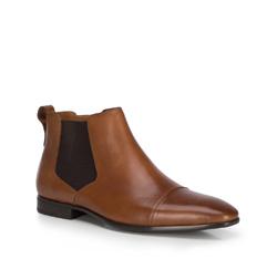 Мужские кожаные ботинки на молнии, коричневый, 89-M-512-5-41, Фотография 1