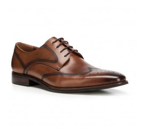 Туфли мужские, коричневый, 90-M-913-4-39, Фотография 1