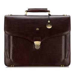 Кожаный портфель с уплотненными краями, коричневый, 10-3-012-4, Фотография 1