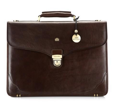 Классический кожаный портфель, коричневый, 10-3-015-1, Фотография 1