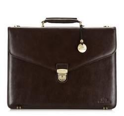 Кожаный портфель в стиле ретро, коричневый, 21-3-143-4, Фотография 1