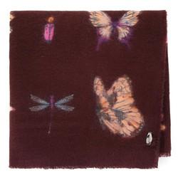 Шарф женский с узором бабочки, коричневый, 91-7D-X23-X3, Фотография 1