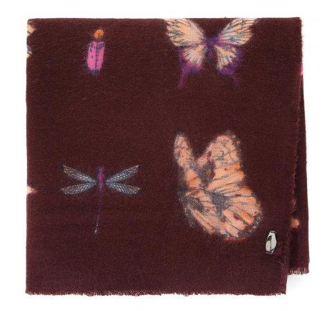 Шарф женский с узором бабочки, коричневый, 91-7D-X23-X1, Фотография 1