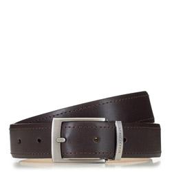 Современный мужской кожаный ремень, коричневый, 91-8M-319-4-10, Фотография 1