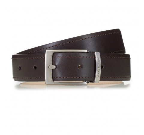 Современный мужской кожаный ремень, коричневый, 91-8M-319-4-90, Фотография 1