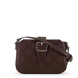 Женская сумка через плечо с тиснением, коричневый, 91-4E-611-4, Фотография 1