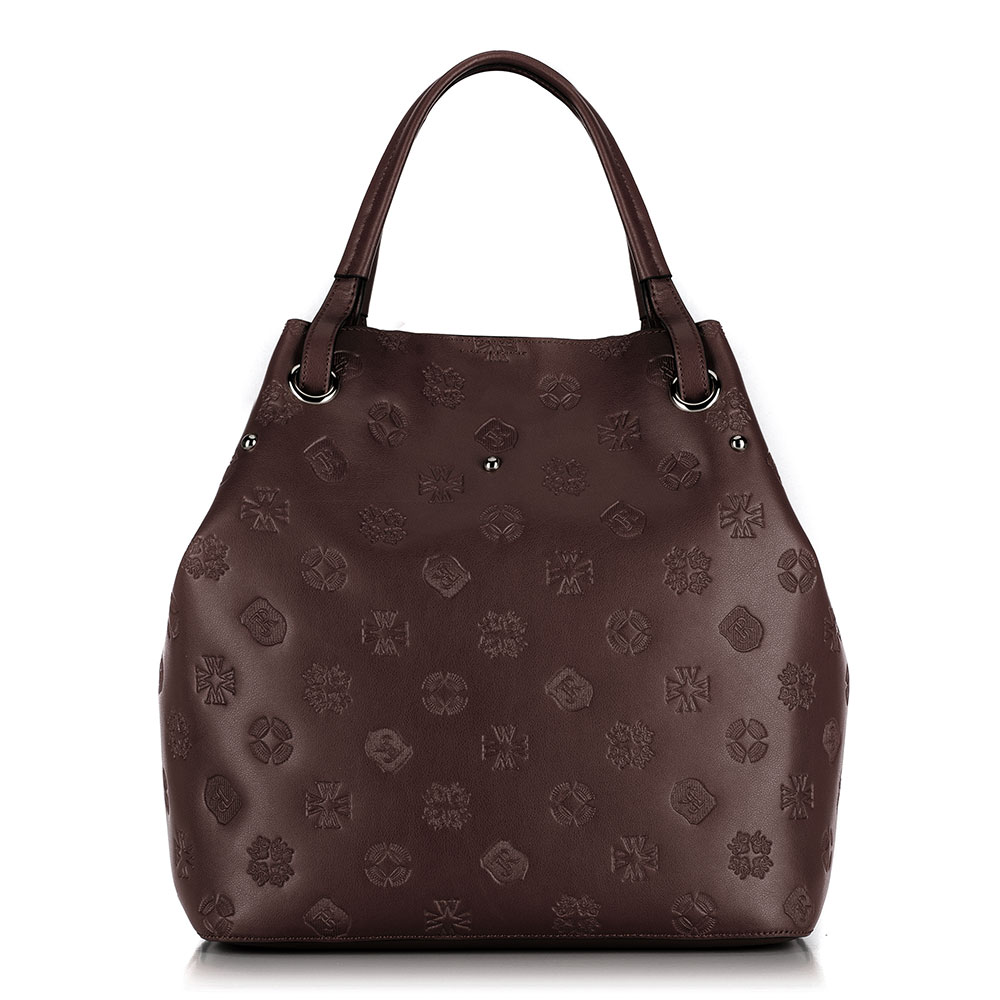 Женская кожаная сумка, коричневый, 91-4E-619-4, Фотография 1