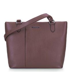 Сумка-шоппер со складкой, коричневый, 93-4Y-207-55, Фотография 1