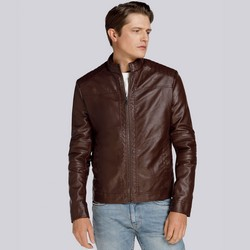 Утепленная стеганая куртка мужская, коричневый, 93-9P-104-4-3XL, Фотография 1