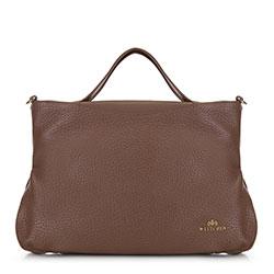 Кожаная сумка-шоппер из мягкой кожи, коричневый, 91-4E-316-5, Фотография 1