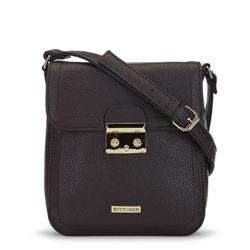 Женская маленькая сумка через плечо с замком, коричневый, 91-4Y-706-4, Фотография 1