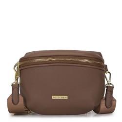 Женская полукруглая сумка на пояс, коричневый, 93-4Y-911-5, Фотография 1