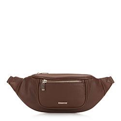 Женская сумка на пояс с широким фронтом, коричневый, 91-4Y-307-5, Фотография 1