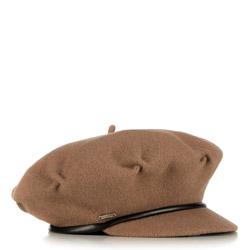 Женская шерстяная кепка с козырьком, коричневый, 91-HF-100-5, Фотография 1