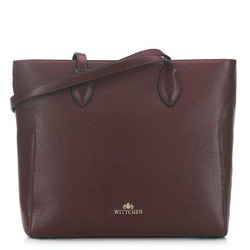 Классическая сумка-шоппер из зернистой кожи, коричневый, 91-4-704-4, Фотография 1