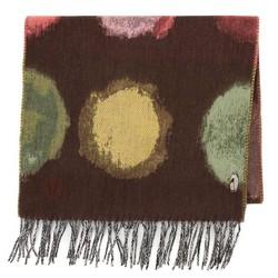 Женский шерстяной шарф с рисунком, коричневый, 91-7D-X32-X2, Фотография 1