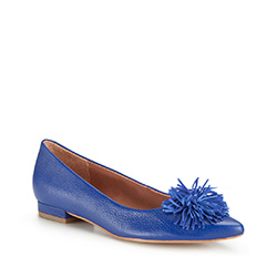 Damenschuhe, kornblumenblau, 86-D-560-7-35, Bild 1