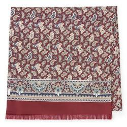 Мужской шелковый шарф, красно - бежевый, 91-7M-S43-X1, Фотография 1